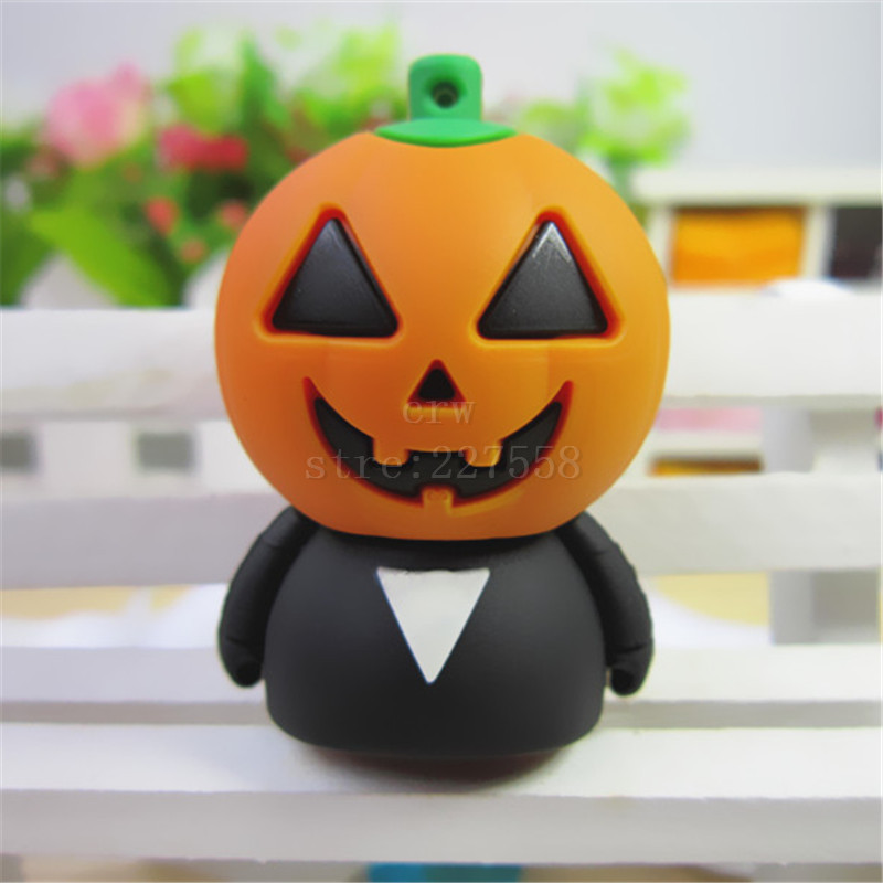 pen drive Cartoon Pumpkin Head Enough capacity pendrive 8gb/16gb/32gb/64gb bulk usb 2.0 flash drives Memory Stick(China (Mainland))