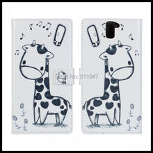 100 pcs/lot Cartoon Leather Case Cover For Oneplus One plus one OPO mobile phone Case