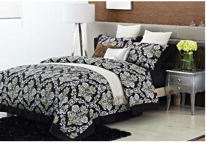 Marca de luxo lençol de algodão egípcio jogo do fundamento 4 pcs preto queen size rei do vintage colcha edredon cobrir cama em um saco colcha 2015(China (Mainland))