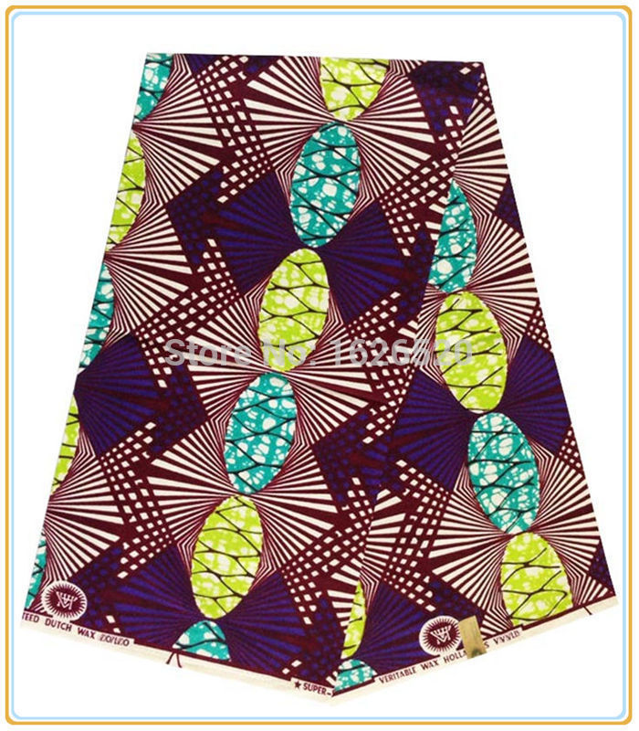 New arrival wine red+purple+green pattern design ankara fabric,faddish good quality African super wax fabric for party dress(China (Mainland))