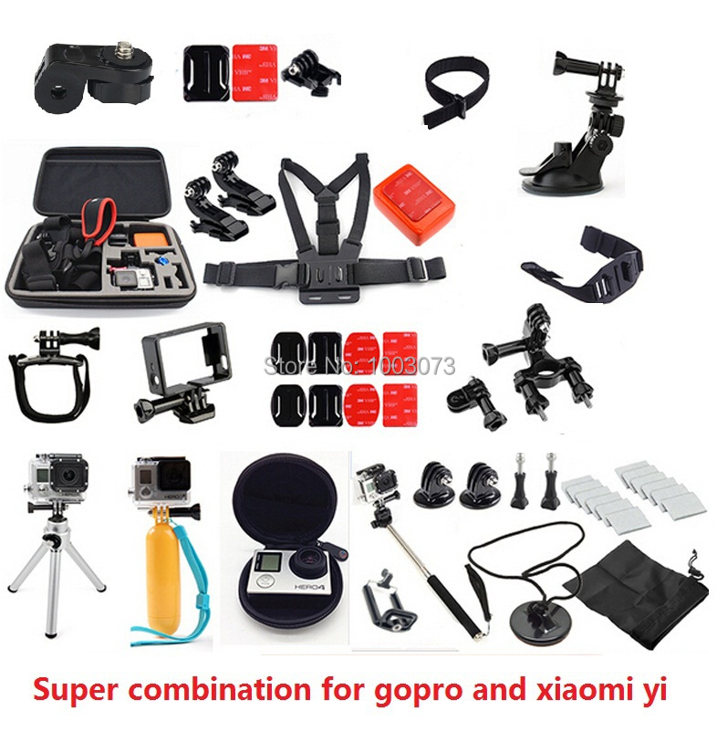 accessories for GoPro Kit GoPro Bike Handlebar Holder Mounts adapter accessories set Helmet strap for xiaomi yi action camera<br><br>Aliexpress