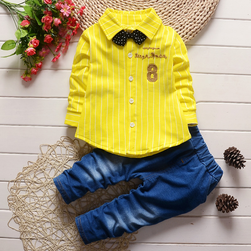 2016 new spring formal baby clothing sets fashion striped Kids outerwear suit gentry boys outerwear 2 to 5 years(China (Mainland))