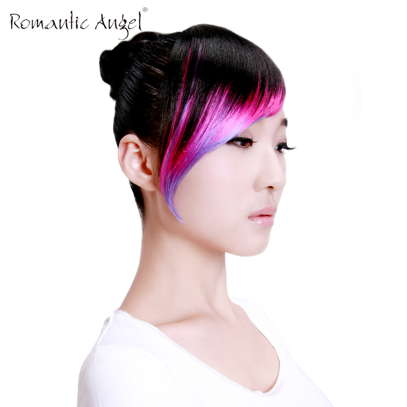 High Quality Synthetic Hair Fringe/Bangs 4 Highlighting Colors with Easy Clip-In Free Shipping(China (Mainland))