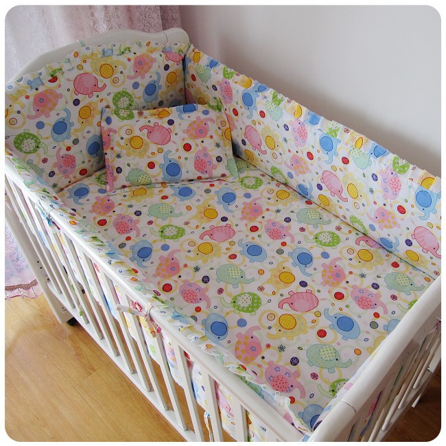 Promotion! 6PCS High Quality Baby Bedding Sets Crib Bedding Set Bed Set (bumpers+sheet+pillow cover)<br><br>Aliexpress