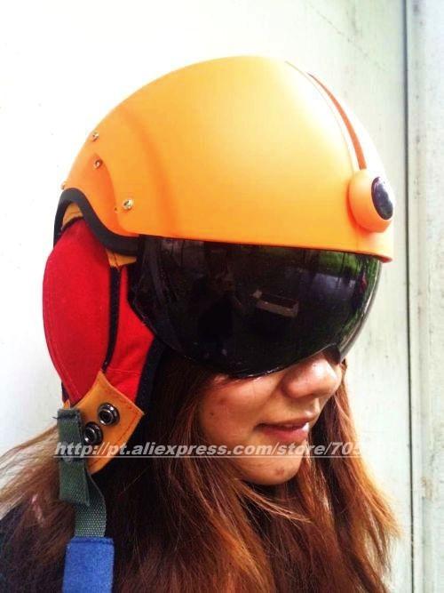 Orange Air force Jet flight Pilot & Motorcycle/Scooter Open Face Helmets Half Helmet Free Shipping Worldwide(China (Mainland))