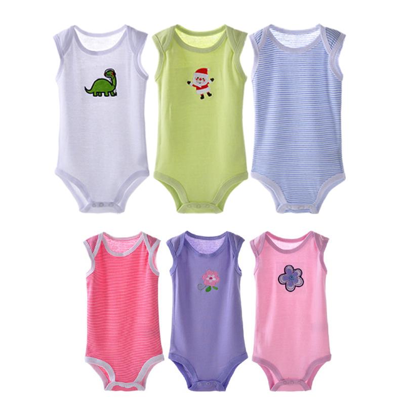 5pcs lot Summer Cool Kids Jumpsuit Cartoon Baby Boy Girl