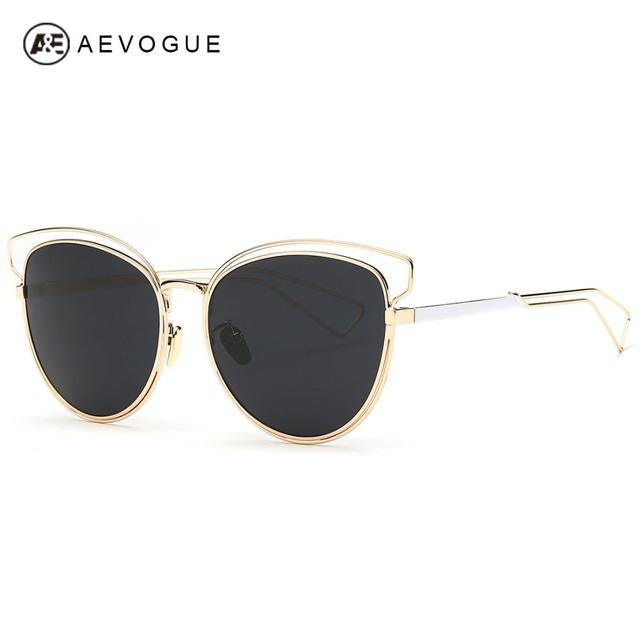 Aevogue женские солнцезащитные очки новейший сплав конструкция рамы марка кошачий глаз летний стиль солнцезащитные очки óculos De Sol Feminino UV400 AE0319
