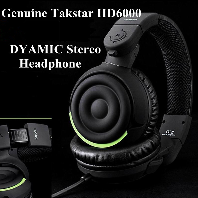 Genuine Takstar HD6000/HD 6000 Dynamic Stereo Headphones Auriculares Studio Audio Monitor Headset Ecouteur DJ Game Earphone(China (Mainland))