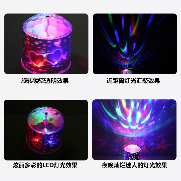Dream Star rotating lights Pooh hello kitty colorful projection lamp brilliant sky(China (Mainland))