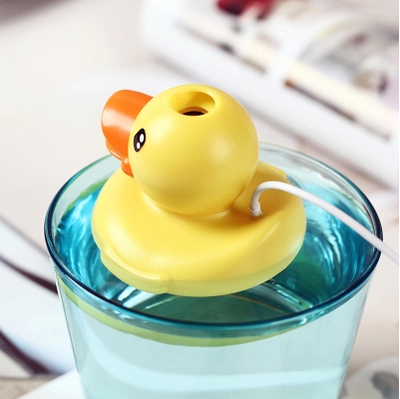 Гаджет  New Creative Mini USB Ultrasonic Humidifier mini duck Humidifier Air Moisturizer Freshener Diffuser Mist Maker free shipping None Бытовая техника