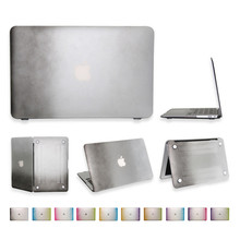 colorful case for macbook air 11 hard pc transparent matte for apple mac book 11.6 inch rainbow cover with US keyboard protector(China (Mainland))