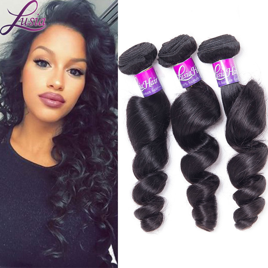 6a Queen Weave Beauty Brazilian Loose Wave 4 Bundles Unprocessed Virgin Hair Loose Wave Brazilian Loose Curl Virgin Hair