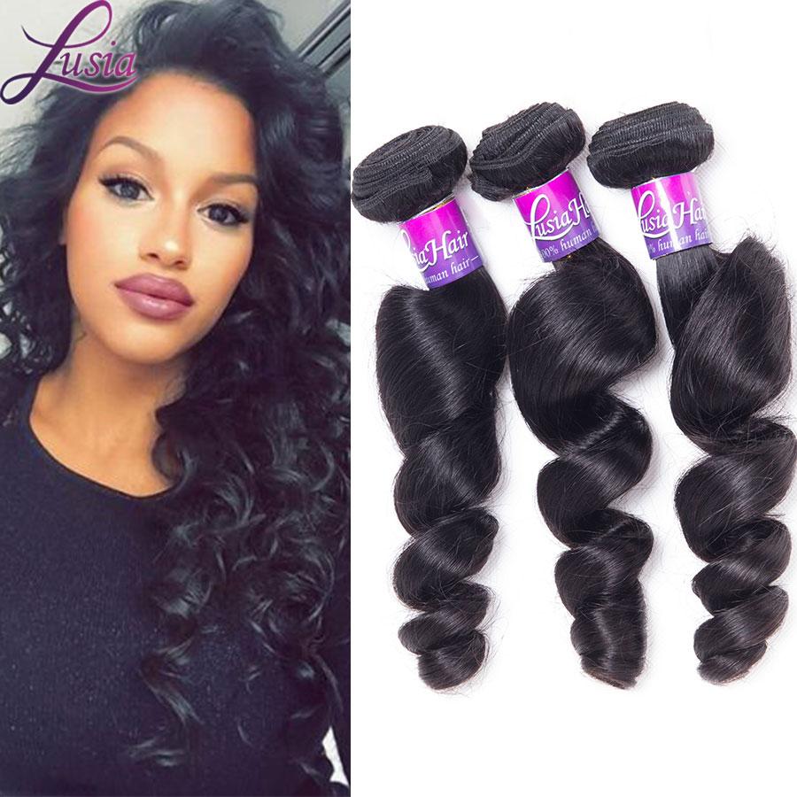 Nice 7a Grade Brazilian Virgin Hair Loose Wave 4 Bundles Of Brazilian Loose Wave Virgin Hair Natural Color Asteria Hair Products<br><br>Aliexpress