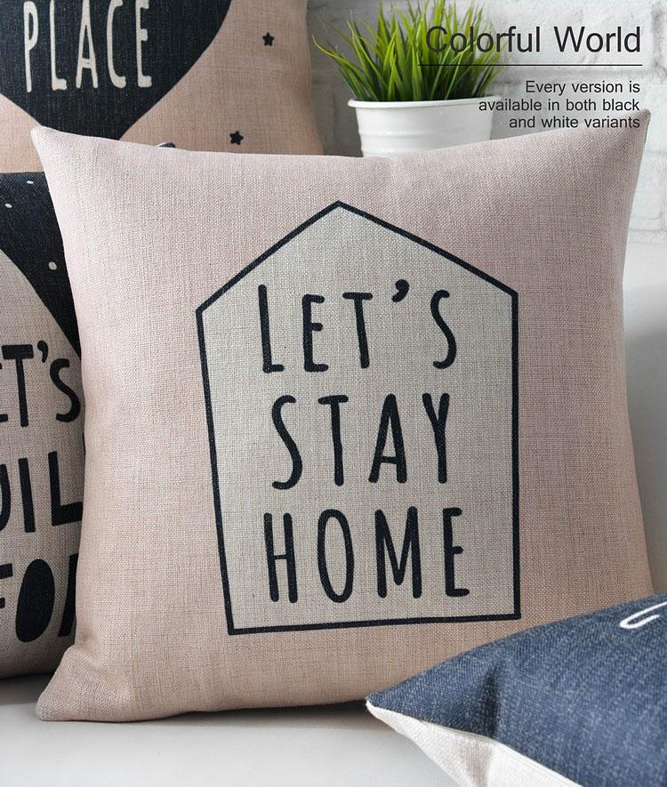 Nordic Modern Creative geometric Pillow deer cushions thick linen pillowcase sofa cushion home decorative Pillows