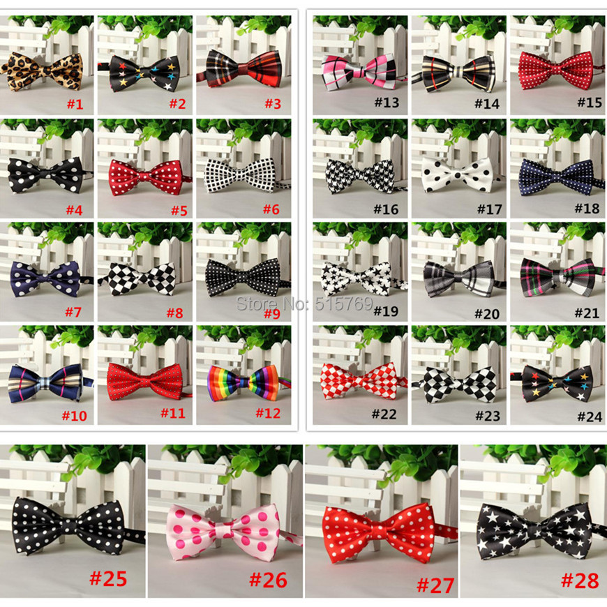 20pcs/lot Korean Slim Print Leopard Bow Tie Baby Polyester Bow Tie Toddler Bowties Size 9cm*5.5cm 28 parttens(China (Mainland))