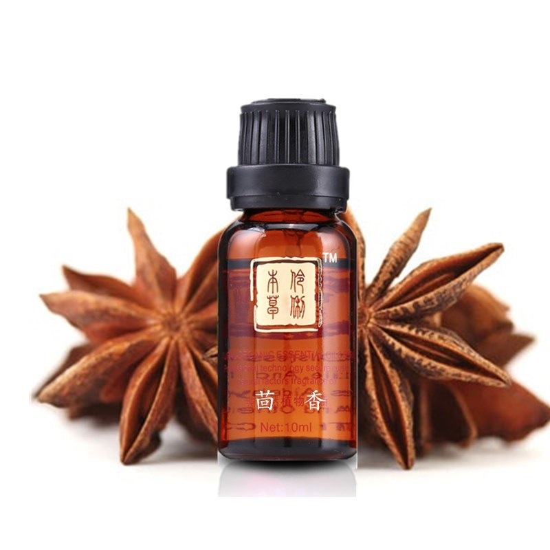 Star anise Fennel essential 10ML unilateral essential octagonal anise compact skin sweet fennel beauty massage(China (Mainland))