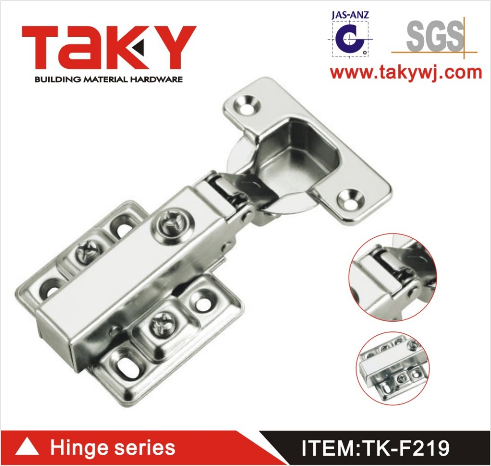 TK-F219 full overlay hydraulic concealed iron hinge for furniture cabinet(China (Mainland))