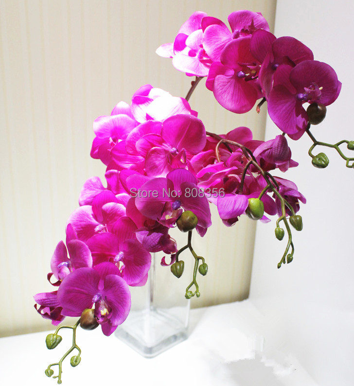 """6pcs 75cm/29.53"""" Real Touch Butterfly Orchid Phalaenopsis Artificial Orchid Flower For Wedding Decoration Wholesale(China (Mainland))"""