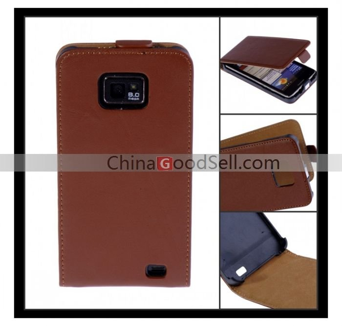 For Samsung Galaxy S2 Case Leather Flip Fundas for Samsung Galaxy S2 i9100 Protective Shell Phone Accessory Mobile Pouch Case(China (Mainland))