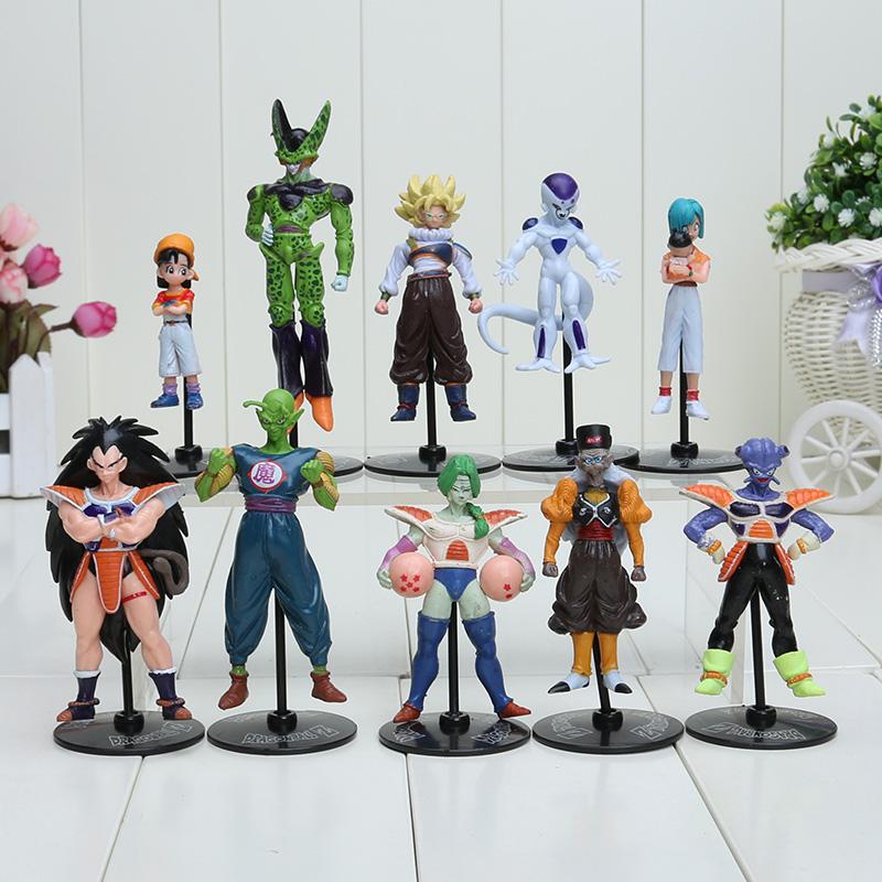 New Retail 7.8-11.8cm Goku Gohan Piccolo Freeza PVC Action Figure Anime Dragon Ball Z Model Toys 10pcs/set(China (Mainland))
