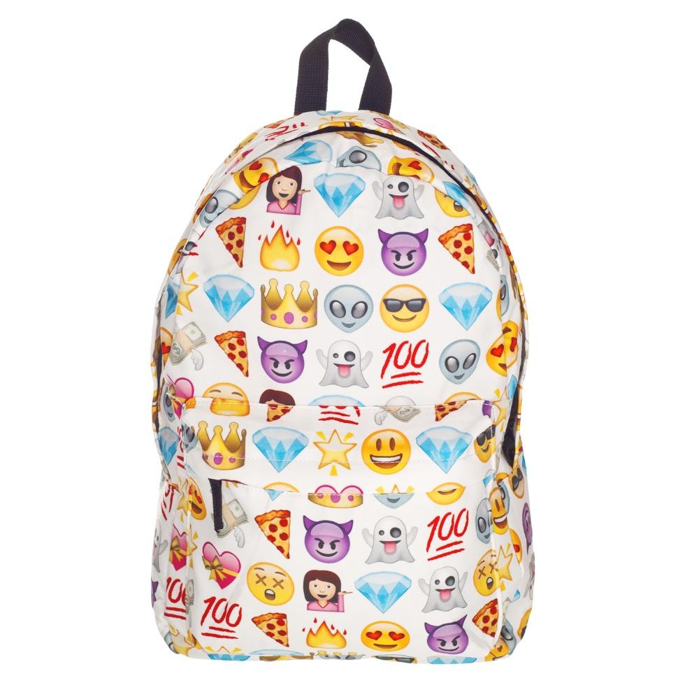 Гаджет  15 Color High Quality Women Canvas Backpacks Smiley Emoji Face 3D Printing School Bag For Teenagers Girls Shoulder Bag Mochila None Камера и Сумки