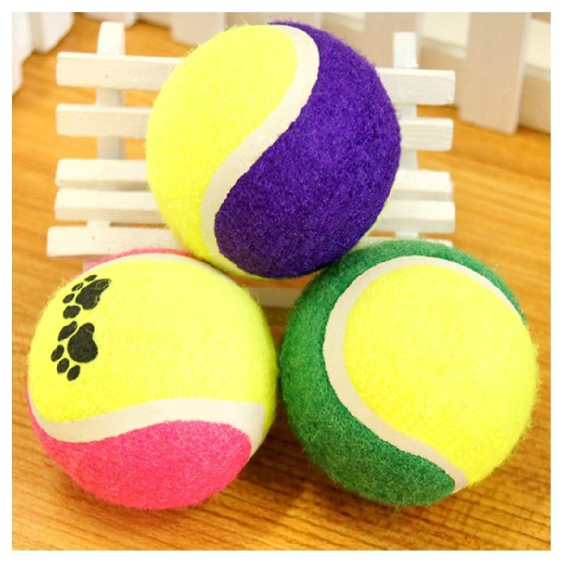 Product For Dog Pet Dog Toy Tennis Balls Run Training Fetch Throw Play Toy, Multicolor Fancy Chew Toy Factory Supply 2016 Toys(China (Mainland))