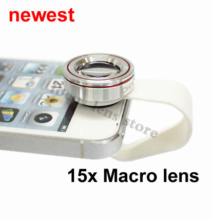 Newest Best quality moblie phone 15x Macro lens for Nokia Blackberry HTC iphone 4s 5 5s 6s 6 plus mini ipad Samsung note 2 3 S5(China (Mainland))