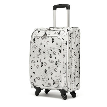 20 inch 36cmx24cmx58cm polyester canvas trolley spinner travel boarding luggage siutcase carry-ons for women girls(China (Mainland))