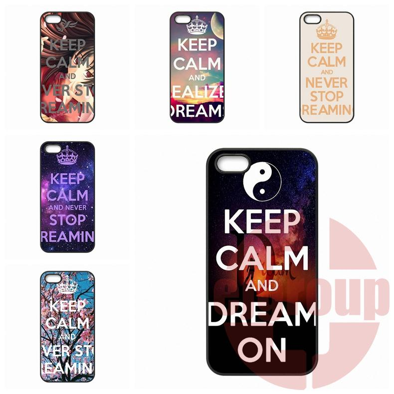 Mobile Phone Keep Calm Never Stop Dreaming For Moto X1 X2 G1 G2 E1 Razr D1 D3 For BlackBerry 8520 9700 9900 Z10 Q10(China (Mainland))