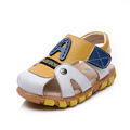 Hot 2017 New children shoes Non slip lightweight breathable Genuine Leather Sandals for the boy Brown