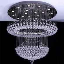 Crystal Chandelier Modern K9 Chandeliers Ceiling Hotel Crystal Plafon Lamp Light Fixtures Modern Crystal Chandelier(China (Mainland))