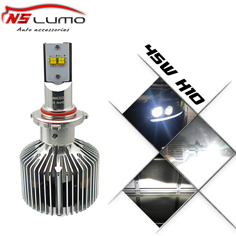Фотография Wholesale price led kit conversion headlight kit high quality car led headlight h10 4500LM 45W High power Auto 9145 headlight