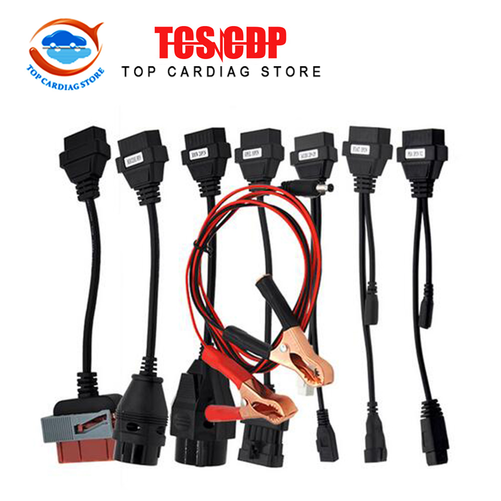 8pcs CDP Car Cables OBD 2 Connector Cables Full Set Car Cables for TCS Car Diagnostic Cables with Free Shipping(China (Mainland))