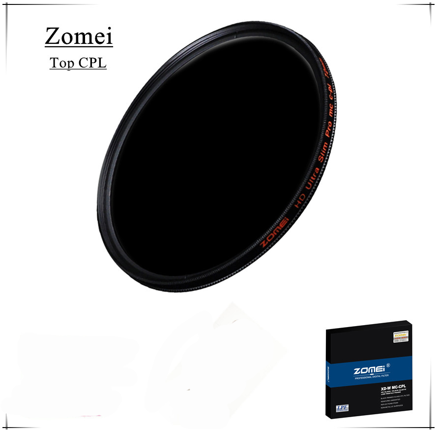 Top Quality UHD Zomei 62mm CPL Filter Germany Glass Polarizer Filtro 18 Layer Coating Water Oil Soil for Canon Sony Camera Lens(China (Mainland))
