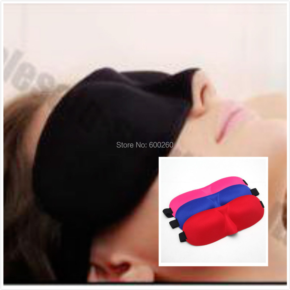 Gift ,hot sale Travel Rest 3D Sponge EyeShade Sleeping Eye Mask Cover eyepatch blindfolds for health care to shield the light(China (Mainland))