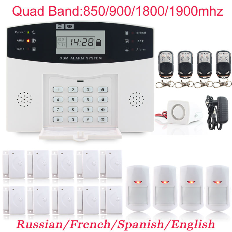 New Wired&amp;Wireless GSM Autodial monitoring Alarm Security Systems For Home Office commercial Keypad Burglar Alarm Free Shipping<br><br>Aliexpress