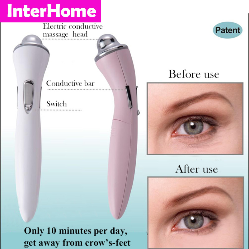 New Arrival Family Bio Microcurrent Eye Elf Beauty Machine Remove Eye Crow's-feet Wrinkles Black Rim Pouch and Skin pigmentation(China (Mainland))