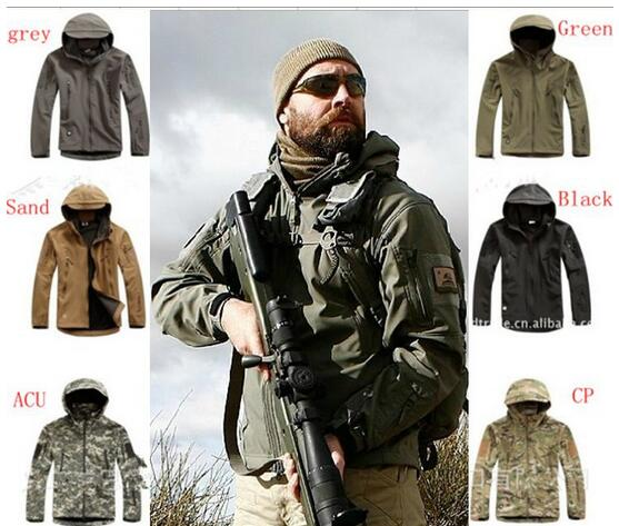2016 Lurker Shark skin Soft Shell 4.0 Outdoor Military Tactical Jacket Waterproof Windproof Sports Army Clothing(China (Mainland))