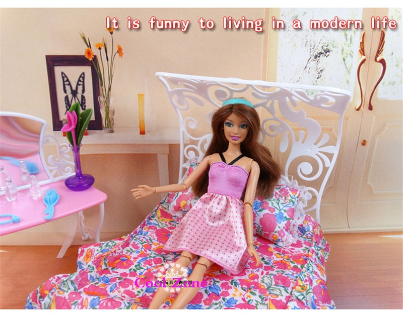 Miniature Furnishings My Fancy Life Candy Dream Bed room-B for Barbie Doll Home Faux Play Toys for Lady Free Transport