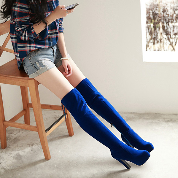 2014 fall winter new bag mail female high-heeled shoes thick with over the knee boots high cylinder fashion Knight boots XY027<br><br>Aliexpress