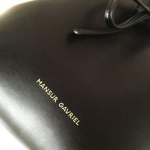 Newest Mansur bucket bag Gavriel women genuine leather hand bag Gavriel real leathe shoulder bag Logo