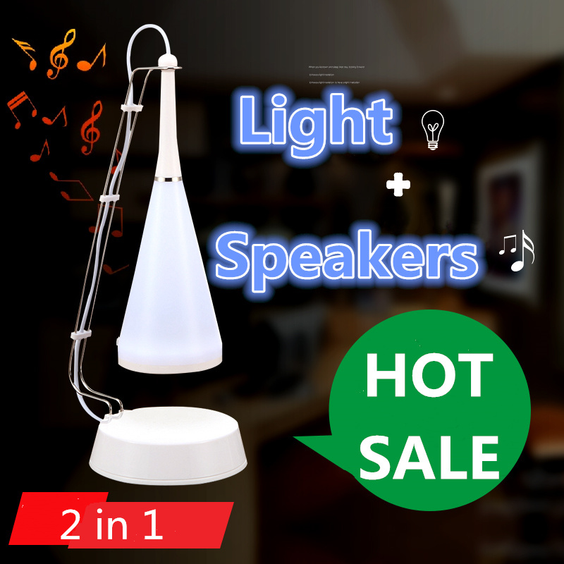 2 in 1 new led music lamp usb charge small audio speaker Subwoofer Bluetooth multifunctional led light sound Birthday gift(China (Mainland))