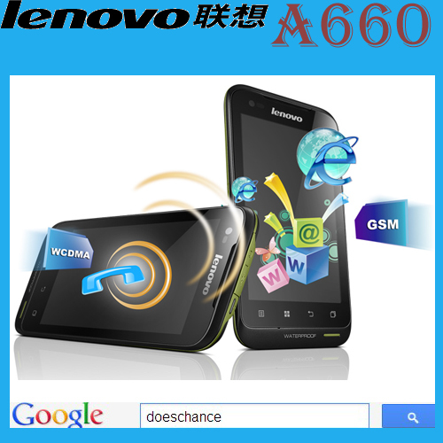 Original Lenovo A660 phone russia polish menu three anti-mobile phone dual-core 1.2G cpu dual sim card(China (Mainland))