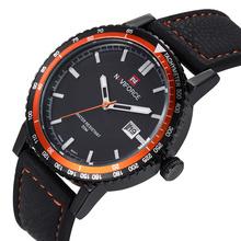 Naviforce marca de reloj de cuarzo de lujo impermeable Casual relojes militar reloj deportivo de cuero Relogio Masculino Orologi