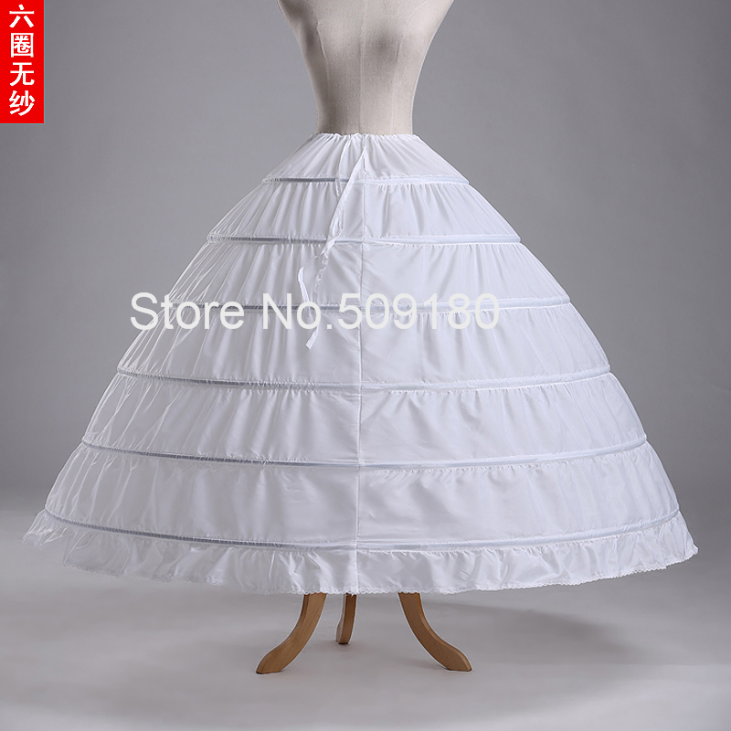 Buy 2015 ball gown petticoats six hoops for Wedding dress hoops for sale