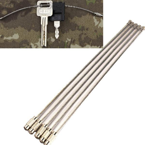 Buy 2pcs Lot Stainless Steel Wire Keychain Cable Cables Key