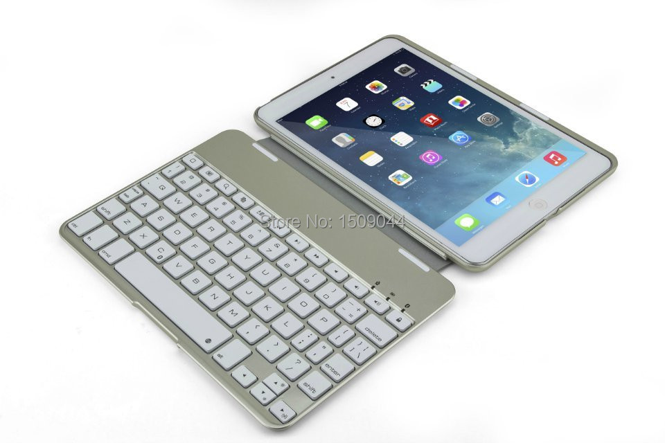 Newest arrival ABS button slim Bluetooth keyboard intelligent sensor switch with backlit for ipad mini3/2/1 Holster 10pcs/lot<br><br>Aliexpress