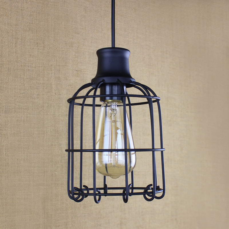Elegant retro metal wire pendant lamp /Edison Simple lamp For Kitchen Lights Cabinet Living/dining room shop/coffee shop/office(China (Mainland))