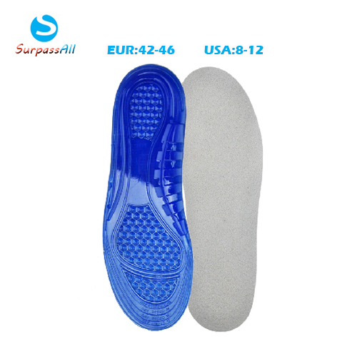 Men Silicone Gel Sports Basketball Running Massaging Insoles Arch Support Plantar Fasciitis Orthotic Orthopedic Shoe Insoles Pad(China (Mainland))
