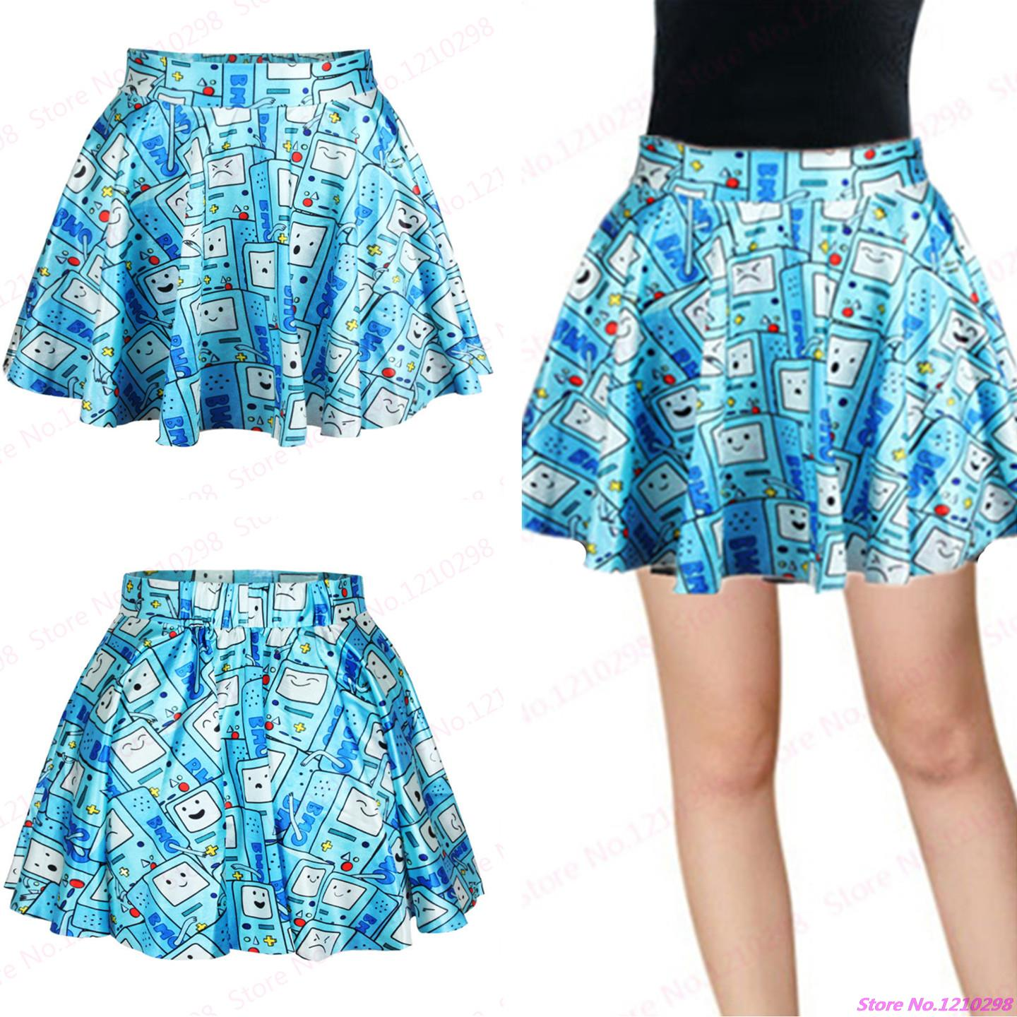 New Summer Nightclubs Sport Skirts Exercise Gym Pleated Pettiskirt Fitness Tennis Mini Skirts Blue Robots Skirts